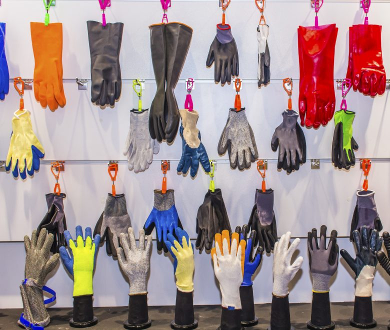 Selection of right glove when handling chemicals. Cleaning gloves.