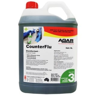 CounterFlu disinfection for fogger machine