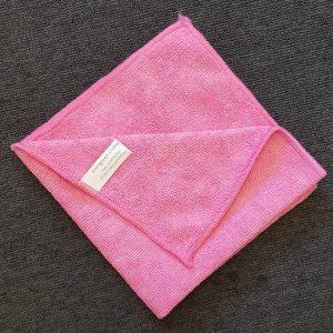 red microfiber cloth
